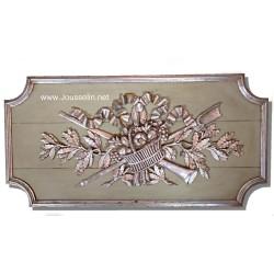 Fronton haut de porte boiserie décoration