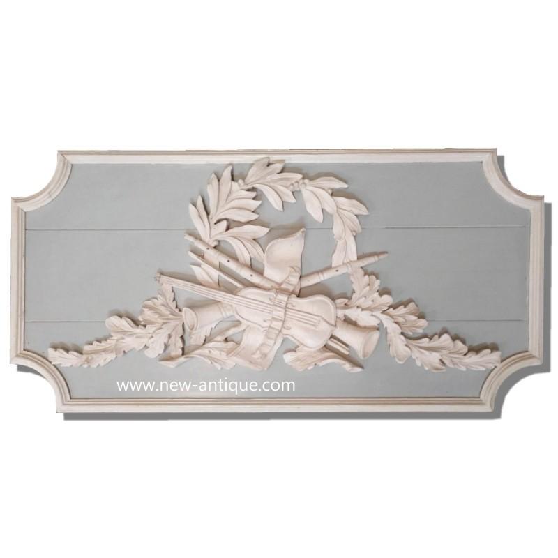 Wood paneling wood pediment