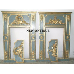 Paire de trumeau LOUIS XVI avec ces deux haut de porte
