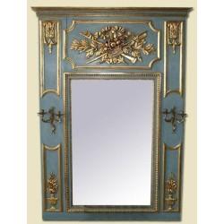 Espejo de chimenea con candelabros Francés Luis XVI