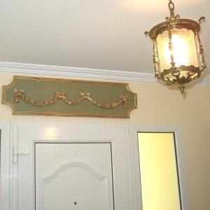 Panel decorativo de madera para pared de estilo francés Luis XVI
