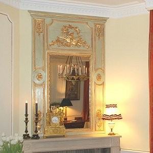 Custom french trumeau mirror Louis XVI