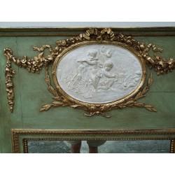 Espejo Francés con decoración de ángeles Napoleón III