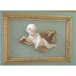 trumeau mirror angels white decor