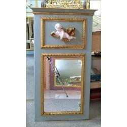Espejo azul con ángel