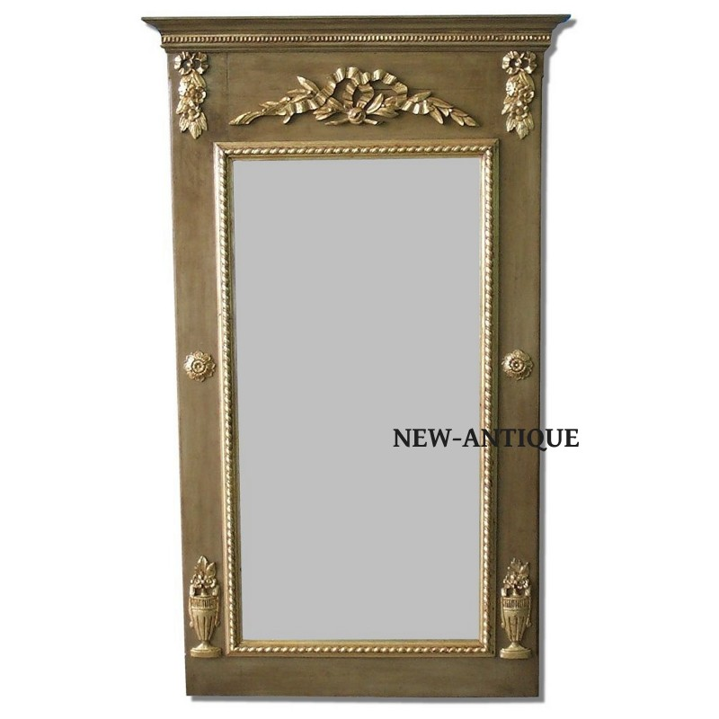 Espejo para decorar paredes con chimenea