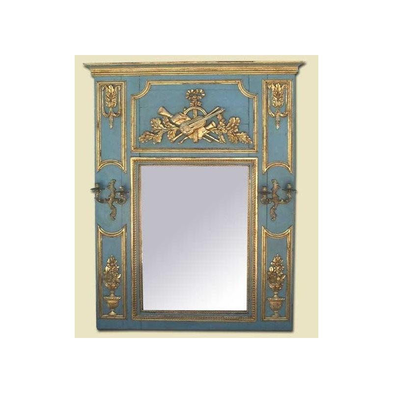Espejo Francés Luis XVI con dos candeleros